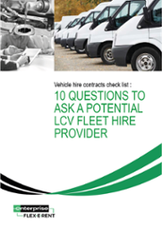 10 questions to ask a potential LCV fleet leasing company