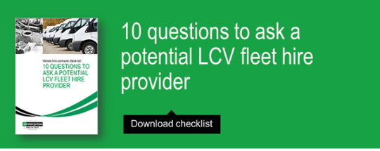 10 question to ask a potential LCV fleet hire provider