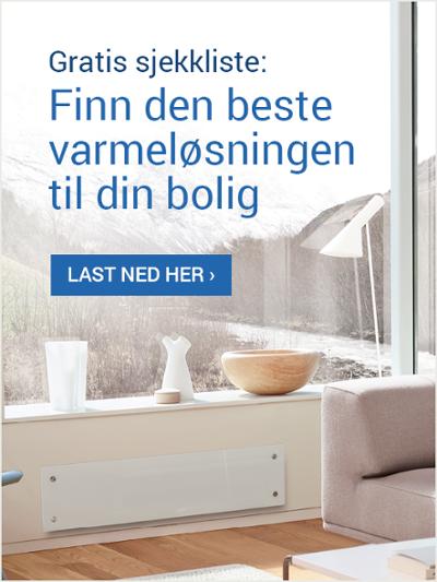 Last ned gratis sjekkliste: Finn den beste varmeløsningen til din bolig