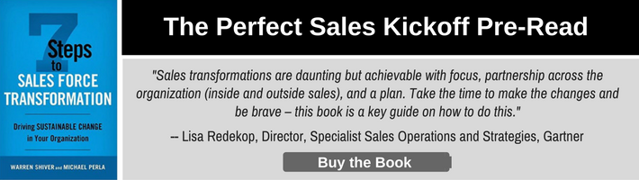 Buy the 7 Steps to Sales Force Transformation Book