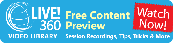 Free Live! 360 Session Recordings, Tips, Tricks, and More