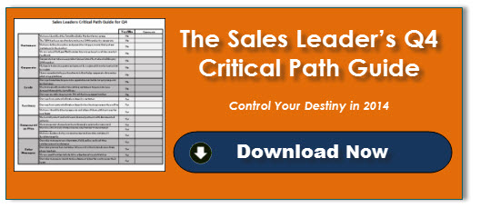 The Sales Leader's Q4 Critical Path Guide