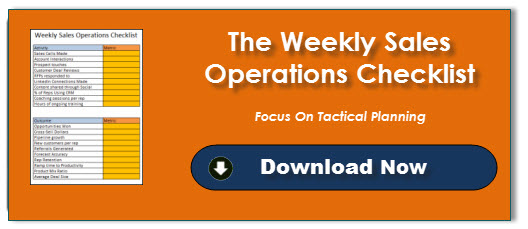 Weekly Sales Operations Checklist