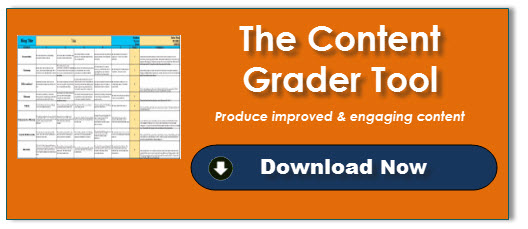 The Content Grader tool