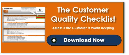 Customer Quality Checklist