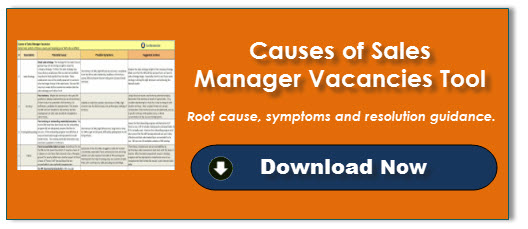 Causes of Sales Manager Vacancies Tool