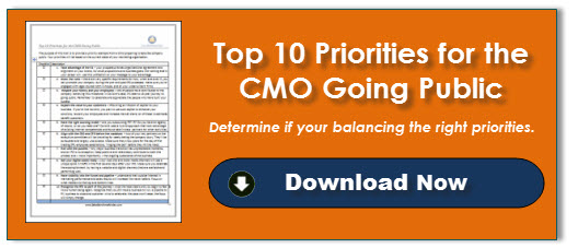 Top 10 Priorities for the CMO Going Public