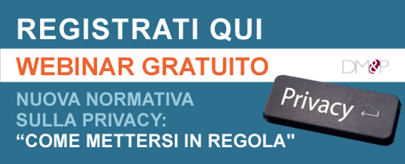 Registrazione webinar privacy