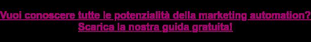 Vuoi sapere come la marketing automation può aiutarti a convertire? Scarica la nostra guida gratuita e scoprilo!