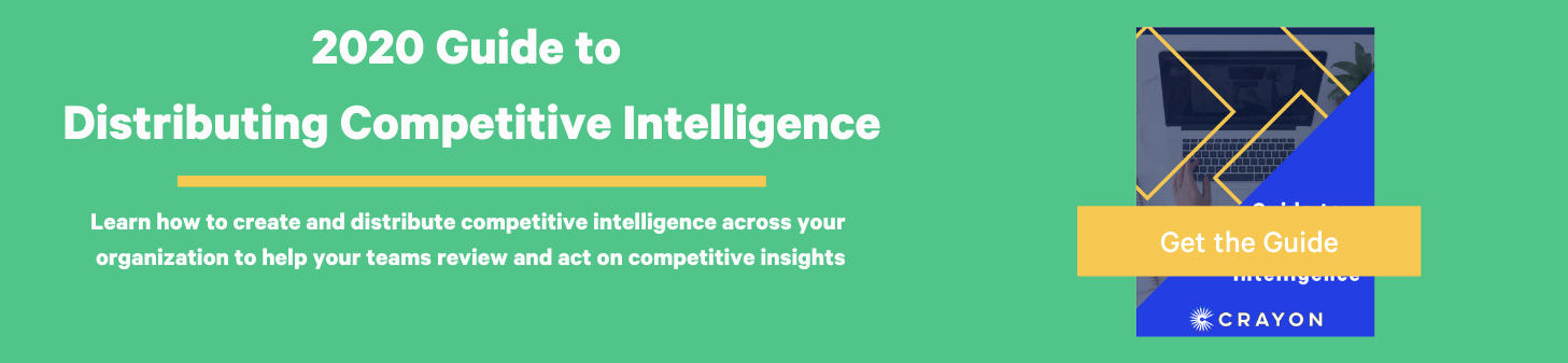 crayon Guide to distributing competitive intelligence