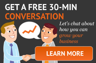 30 minute conversation, inbound marketing chat, b2b chat
