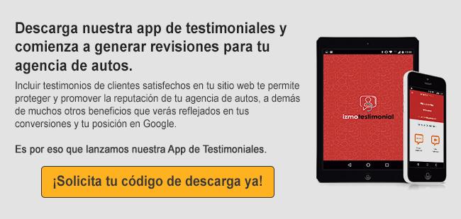 Descarga nuestra app de testimoniales