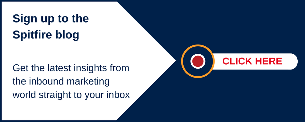 Subscribe to the Spitfire Inbound Marketing Blog