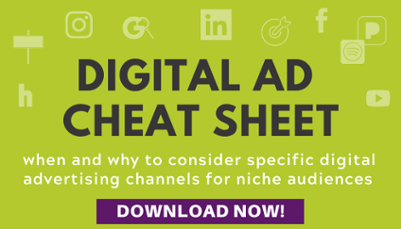 Digital Advertising Channels Cheat Sheet