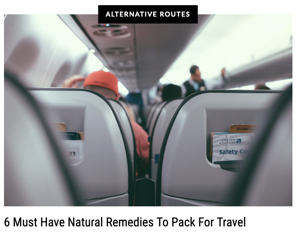 6 Must Have Natural Remedies to Pack for Travel