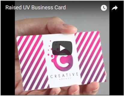 Raised UV Business Card