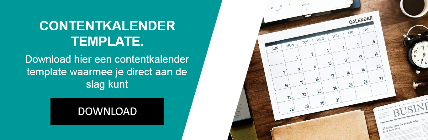 Download template contentkalender