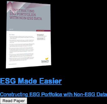ESG Made Easier  Constructing ESG Portfolios with Non-ESG Data Read Paper