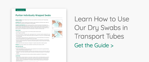 How to Use Dry Swabs in Transport Tubes