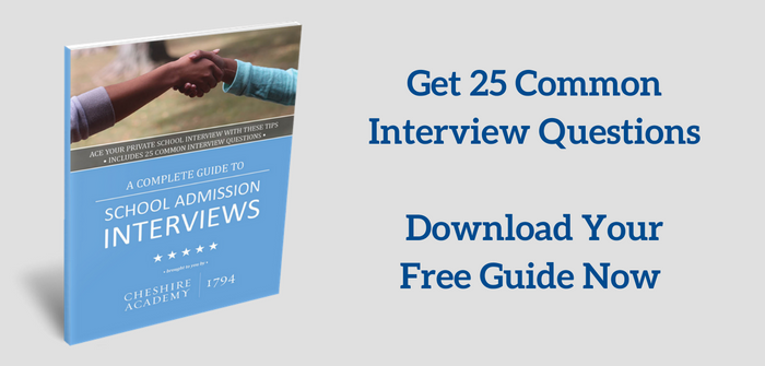 Download your free guide to boarding school interviews