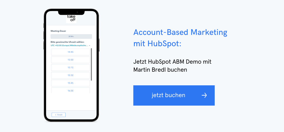 Account-Based Marketing mit HubSpot: Jetzt Hubspot ABM Demo-Termin mit Martin Bredl buchen