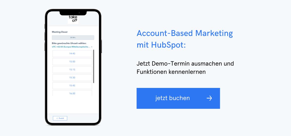 Account-Based Marketing mit HubSpot: Jetzt Demo-Termin ausmachen und Funktionen kennenlernen