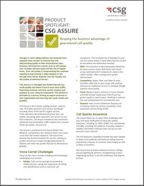 CSG Assure | Call Quality Solution