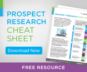 prospect research cheat sheet