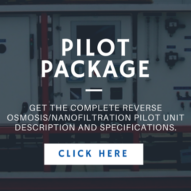 R/O Nanofiltration Pilot Unit