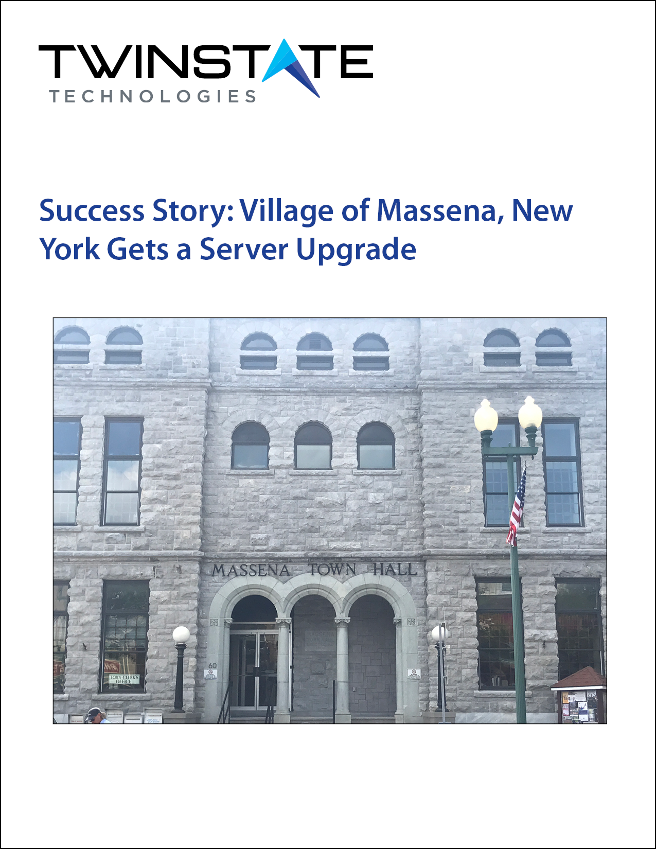 Knowledge Center_Success Story_Twinstate Technologies and Village of Massena, New York