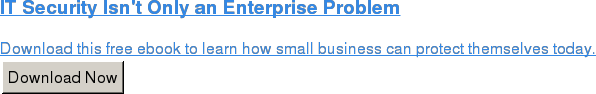 IT Security Isn't Only an Enterprise Problem  Download this free ebook to learn how small business can protect themselves  today. Download Now