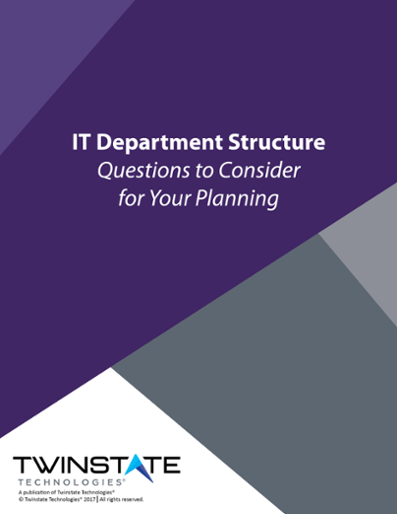 IT Department Structure Worksheet One