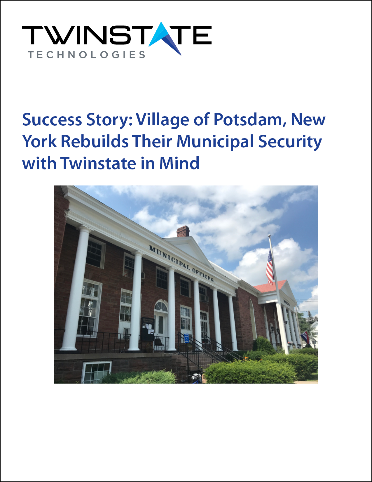 Case Study: Village of Potsdam, Potsdam, New York