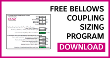Bellows Coupling Sizing Program