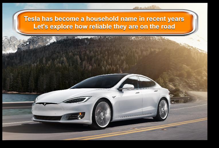 Tesla Model S in white driving