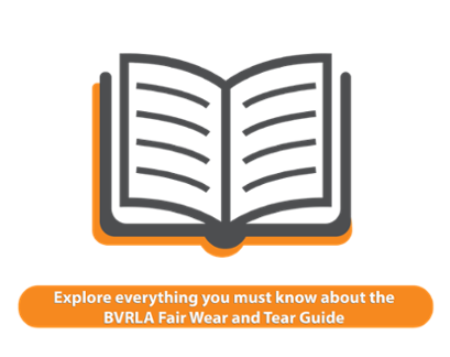 Book graphic with BVRLA fair wear and tear guide call to action