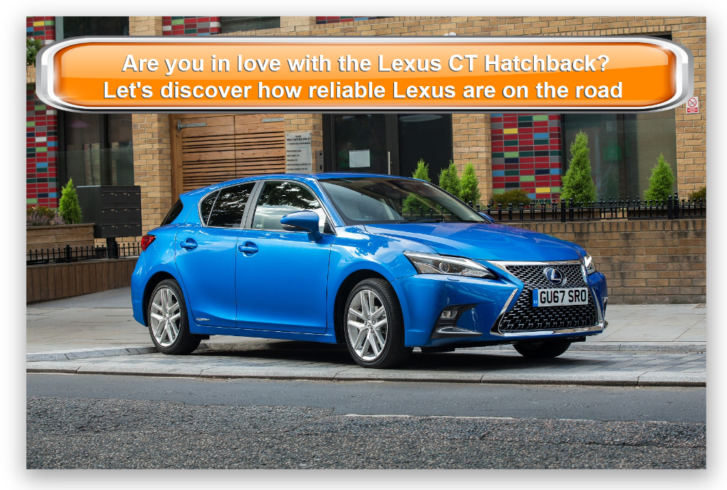 Lexus CT hatchback in blue