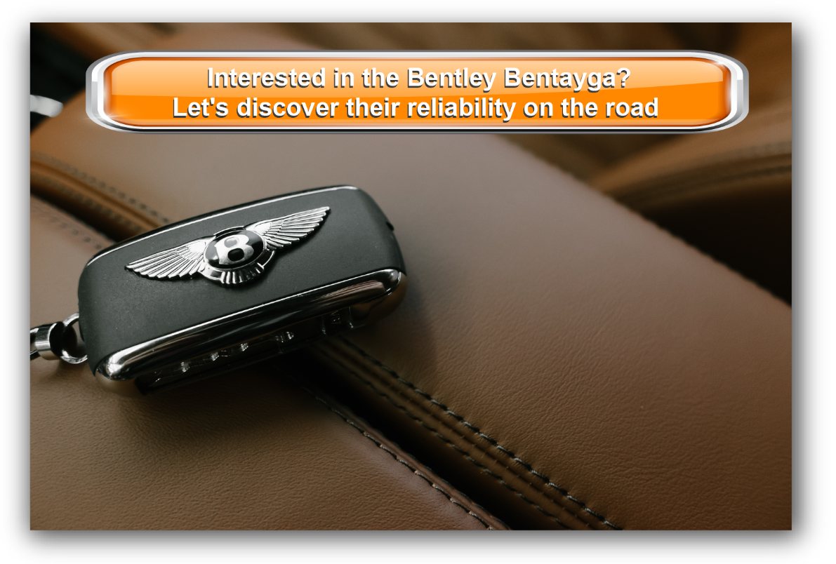 Bentley electronic key on their leather interior seat