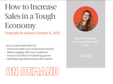 Watch On Demand: How to Increase Sales in a Tough Economy (Webinar)