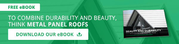 To combine durability and beauty, think metal panel roofs