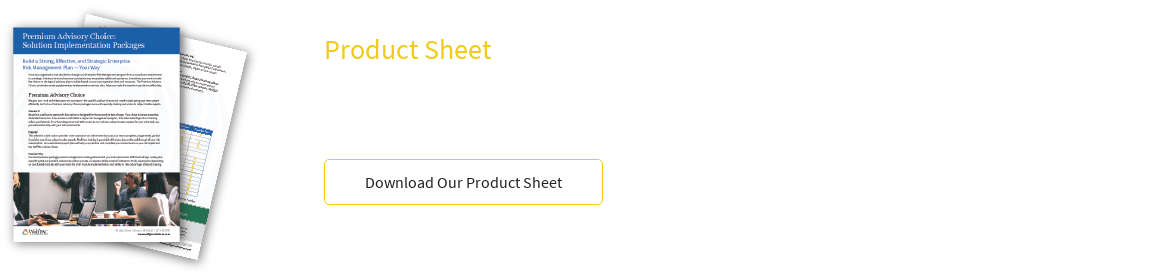 Product Sheet Solution Implementation Packages Build A Strong, Effective, And  Strategic Enterprise Risk Management Plan – Your Way Download Our Product Sheet