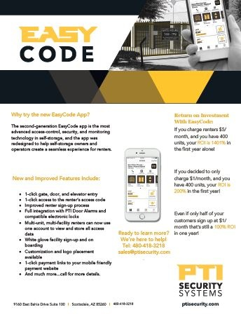 EasyCode Information from PTI Security Systems-Self Storage Technology