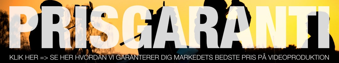 Vil du have prisgaranti på din videoproduktion? Få den her, som det eneste videoproduktionsselskab i Danmark garanterer vi nemlig markedets bedste pris – lige nu med gratis kørsel oven i hvis du reagerer NU!