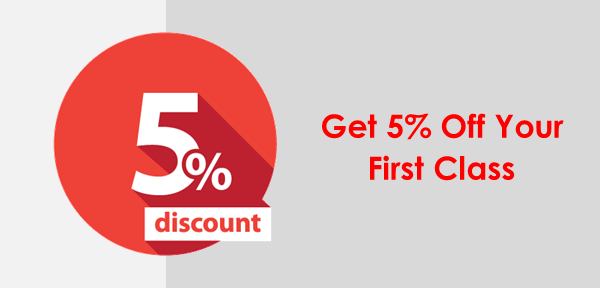 5% Discount on Your First Training