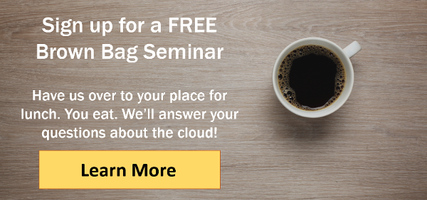 Sign up for a free brown bag seminar on cloud computing from CarverTC