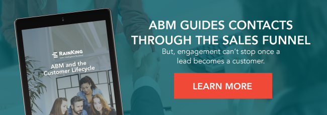 ABM Guides Contacts Through the Sales Funnel