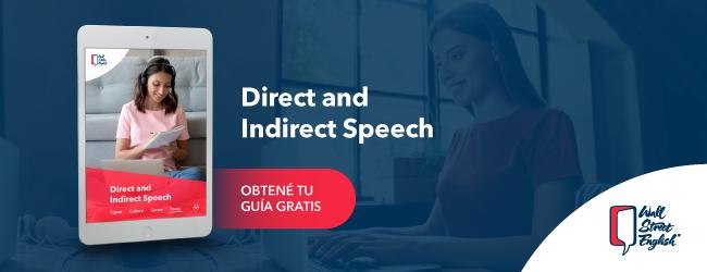 Descarga gratis el Workbook Direct and Indirect Speech