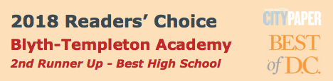 Blyth-Templeton Academy voted a top DC high school by readers of the Washington City Paper