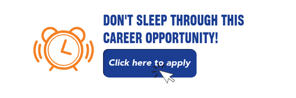 Don't sleep through this career opportunity! Apply now!