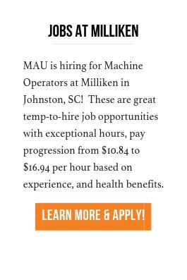 Jobs at Milliken  cta